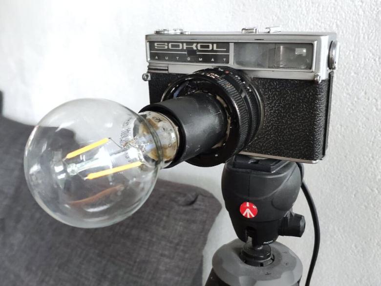 oude camera naar lamp omtoveren